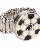 Carnavalskleding zilveren ring voetbal chunk roosendaal