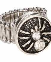 Carnavalskleding zilveren ring zilveren spin chunk roosendaal
