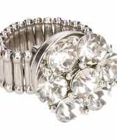 Carnavalskleding zilveren ring zilveren steentjes chunk roosendaal