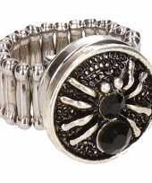 Carnavalskleding zilveren ring zwarte spin chunk roosendaal
