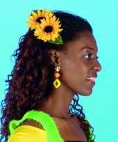 Carnavalskleding zonnebloem haarclip roosendaal