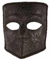 Carnavalskleding zwart bauta masker heren roosendaal