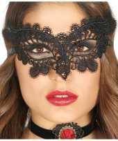 Carnavalskleding zwart kanten oogmasker dames roosendaal 10124296