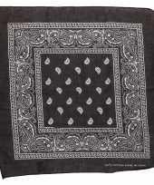 Carnavalskleding zwarte bandana zakdoek roosendaal