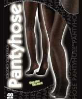 Carnavalskleding zwarte glitter panty denier roosendaal