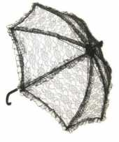 Carnavalskleding zwarte kanten bydemeyer paraplu roosendaal