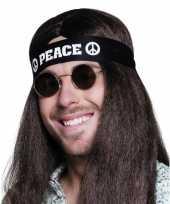 Carnavalskleding zwarte peace hoofdband volwassenen roosendaal