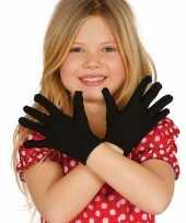 Carnavalskleding zwarte verkleed handschoenen kinderen roosendaal