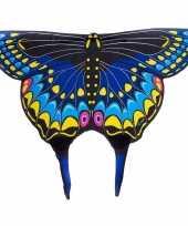 Carnavalskleding zwarte zwaluwstaartvlinder vleugels kids roosendaal