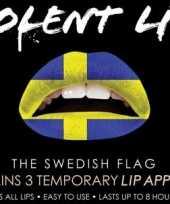 Carnavalskleding zweden lip tattoo zweedse vlag roosendaal