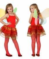 Vlinder carnavalskleding kinderen rood roosendaal